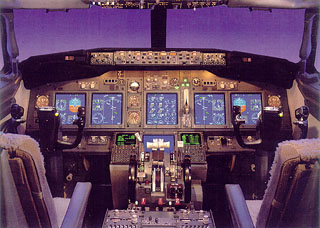 Cabine do Boing 737-700
